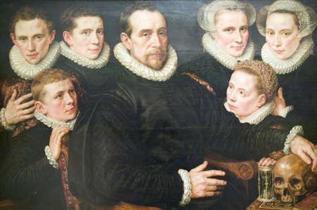Painting in Museum de Prado, Prado Museum, Madrid, Spain