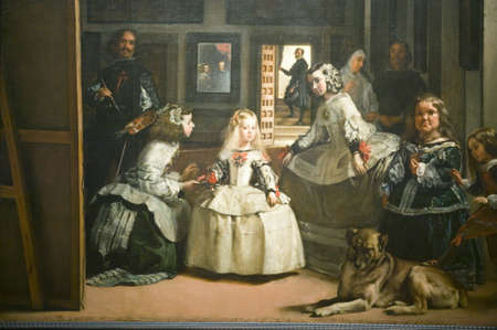 spaniards: Las Meninas by Velazquez as shown in the Museum de Prado, Prado Museum, Madrid, Spain