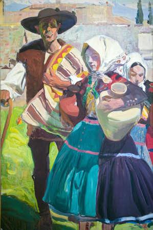 sorolla: Painting by Joaqu'n Sorolla y Bastida (1863-1923) as seen in The Sorolla Museum, Madrid, Spain