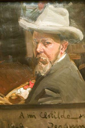 sorolla: Painting of man by Joaqu'n Sorolla y Bastida (1863-1923) as seen in The Sorolla Museum, Madrid, Spain Editorial