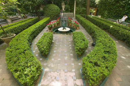 sorolla: Outdoor gardens of The Sorolla Museum in Madrid, Spain