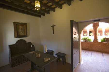 franciscan: This little cell is where America was born, it is where Christopher Columbus and Franciscans met and prayed at the 15th-century Franciscan Monasterio de Santa Mar'a de la R‡bida, Palos de la Frontera, the Huelva Provence of Andalucia and Southern Spain, t Editorial