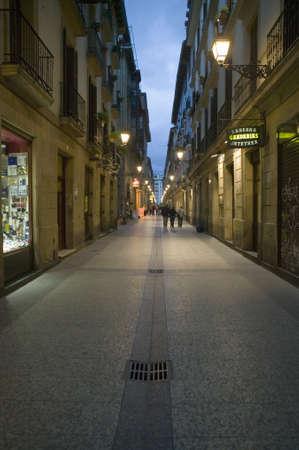 parte: Old quarters at night in Donostia-San Sebastian, Basque region of Spain