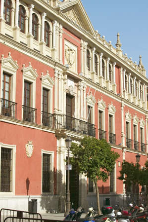 faade: Building windows in city of Sevilla, Andalucia, Southern Spain