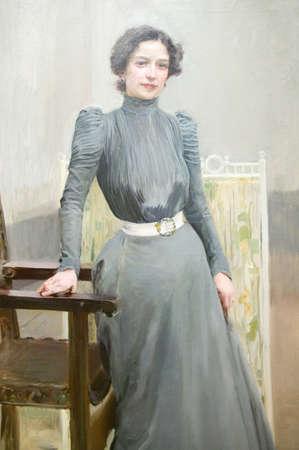 sorolla: Painting of Sorollas wife by Joaqu�n Sorolla y Bastida (1863-1923) as seen in The Sorolla Museum, Madrid, Spain