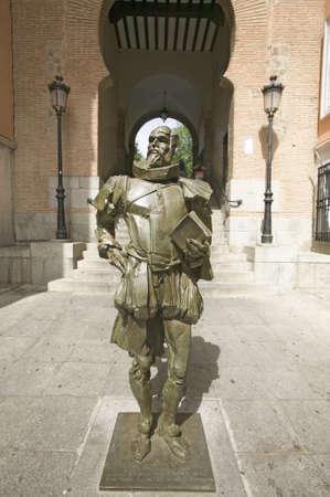 Modern statue of  Don Quixote, written by author Miguel de Cervantes of Toledo, Toledo, Spain