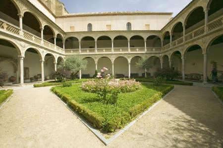 archways: Archways and center garden Toledo, Spain