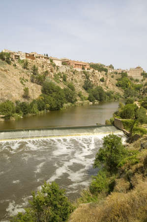tagus: Tagus River and historic village of Toledo, Spain Editorial