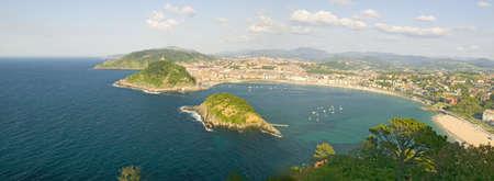 Panoramic view of San Sebastian, Spain