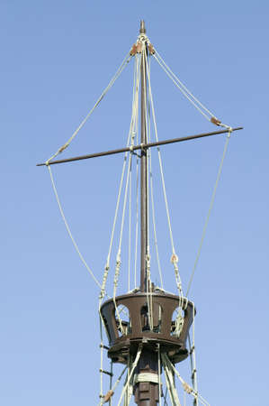 pinta: Full size replicas of Christopher Columbus ships, the Santa Maria, the Pinta or the Ni–a at Muelle de las Carabelas, Palos de la Frontera - La R‡bida, the Huelva Provence of Andalucia and Southern Spain, the site where Columbus departed from the Old Worl Editorial