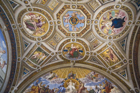stanza: The Vatican Museums, Musei Vaticani, are the public art and sculpture museums in the Vatican City, which display works from the extensive collection of the Roman Catholic Church. Pope Julius II founded the museums in the 16th century, Rome, Italy, Europe