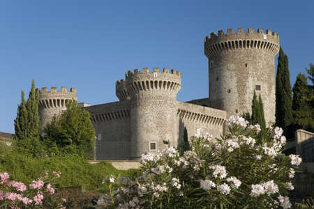 pius: Tivoli Castle, or Castle of Rocca Pia, built in 1461 by Pope Pius II, Tivoli, Italy, Europe