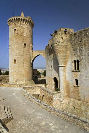 Palma, Castle de Bellver, Bellver Castle, Majorca, Spain, Europe, Balearic Islands, Mediterranean Sea, Europe