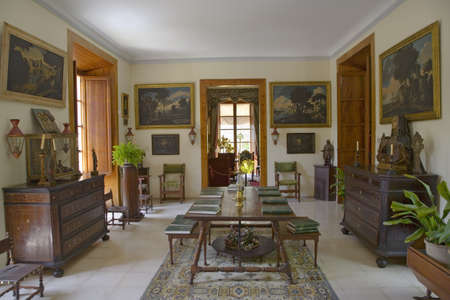 els: Interior view of Camino d els Calderers d San Juan, Majorca, the largest island of Spain, Europe on the Mediterranean Sea and part of Balearic Islands archipelago