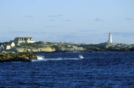 photographies: Sunset view at Peggys Cove in Nova Scotia, Canada Editorial