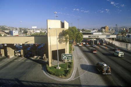 USA/Mexico border in San Diego, CA facing Tijuana Editorial