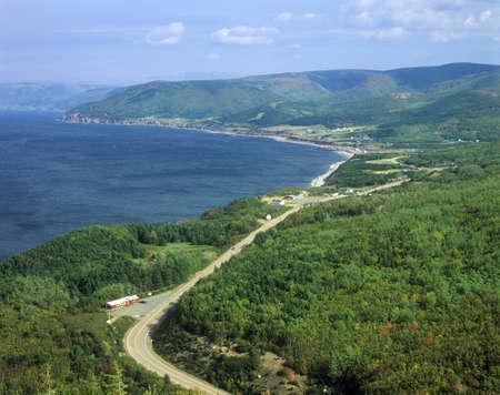 pleasant: Pleasant Bay View in Cape Breton Nova Scotia, Canada Editorial