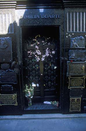 peron: Mausoleum of Familia Duarte, burial site of Eva Peron in Buenos Aires, Argentina