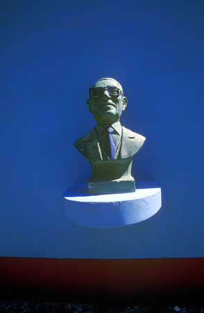 peron: Bust of Juan Peron at cemetery burial site of Eva Peron in Buenos Aires, Argentina