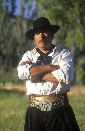 エル ・ カラファテ、アルゼンチン パタゴニア アルゼンチン ガウチョ カウボーイ 報道画像
