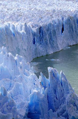photographies: Icy formations of Perito Moreno Glacier at Canal de Tempanos in Parque Nacional Las Glaciares near El Calafate, Patagonia, Argentina Editorial