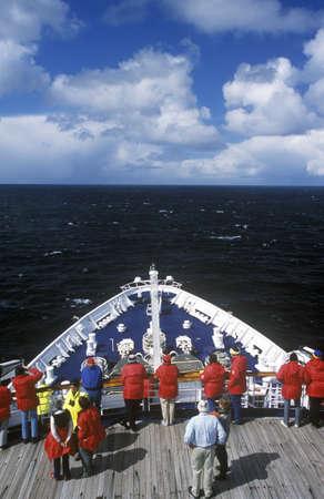 ship bow: Bow of cruise ship Marco Polo, Antarctica Editorial