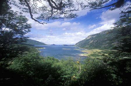 fuego: Ushuaia, Tierra del Fuego National Park and Andes Mountains, Argentina Editorial