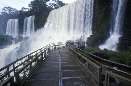 photographies: Iguazu Waterfalls in Parque Nacional Iguazu, border of Brazil and Argentina