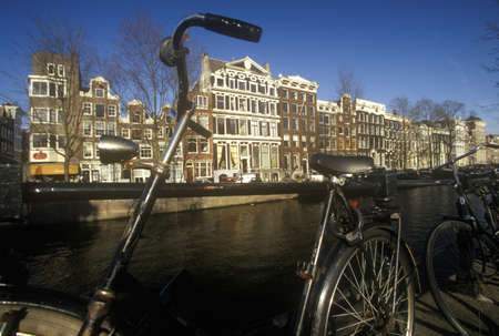 holland: Canal in Amsterdam, Holland Editorial