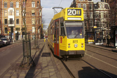 Tram in Amsterdam, Holland