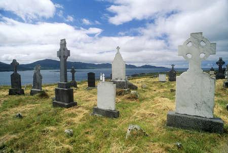 photographies: Gravestones in Kilcatherine Church cemetery, Cork, Ireland