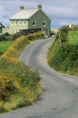 Winding country road in West Cork, Ireland
