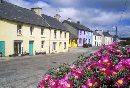abodes: Beautiful flowers And Eyeries Village, West Cork, Ireland Editorial