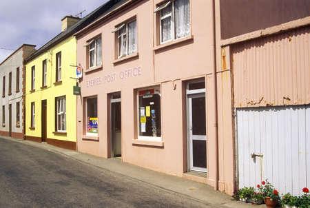 abodes: Pastel colored homes in Eyeries Village, West Cork, Ireland Editorial