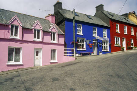 abodes: Vibrant colored houses in Eyeries Village, West Cork, Ireland