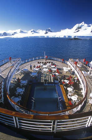 Cruise ship Marco Polo rear deck, Antarctica