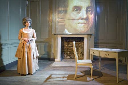 statesman: Reenactor sits in the Benjamin Franklin House, the worlds only remaining Franklin home. For nearly sixteen years between 1757 and 1775, Dr Benjamin Franklin - scientist, diplomat, philosopher, inventor, Founding Father of the United States and more - liv Editorial