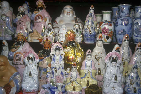 Pottery, statuary and Buddhas for sale in Kunming, Peoples Republic of China