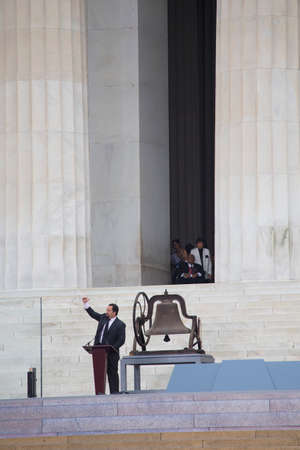 Former President and CEO of NAACP Ben Jealous speaks during the Let Freedom Ring ceremony at the Lincoln Memorial August 28, 2013 in Washington, DC, commemorating the 50th anniversary of Dr. Martin Luther King Jr.s I Have a Dream speech.