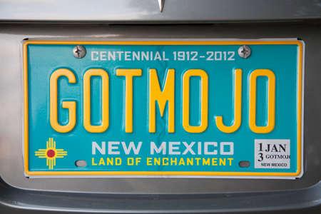 GOT MO JO, New Mexico Nummerplaat