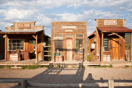 jails: Old West storefronts, Ridgway, Colorado  Editorial