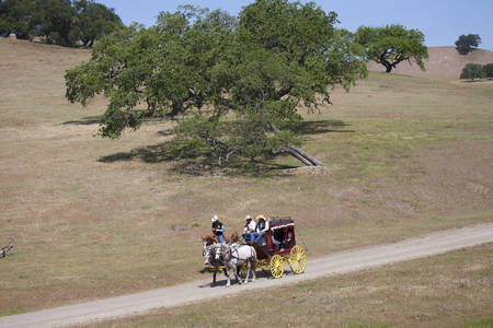 incidental people: Santa Ynez Valley Historical Museum and Carriage House hosts Spirit of the West, a symposium on Wells Fargo stagecoaches and horse-drawn vehicles of the West, Santa Ynez, Santa Barbara County, California  Editorial