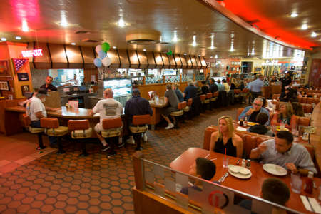 interior architecture: Classic 1950s Diner, Bobs Big Boy, Riverside Drive, Burbank, California