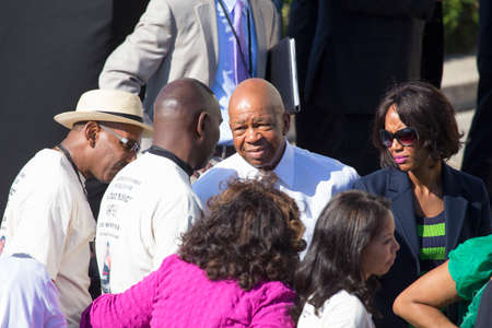 congressman: Congressman John Lewis of Georgia arrives at the National Action to Realize the Dream march and rally for the 50th Anniversary of the march on Washington and Martin Luther Kings I Have A Dream Speech, August 24, 2013, Lincoln Memorial, Washington, D.C.