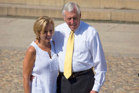 congressman: Maryland Congressman Steny Hoyer and wife at the National Action to Realize the Dream march and rally for the 50th Anniversary of the march on Washington and Martin Luther Kings I Have A Dream Speech, August 24, 2013, Lincoln Memorial, Washington, D.C.