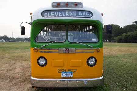 montgomery: Restored bus Rosa Parks sat in December 1, 1955 from Montgomery Alabama on Cleveland Avenue, is seen in  Washington, D.C. National Mall, for the 50th Anniversary of the march on Washington and Martin Luther Kings I Have A Dream Speech