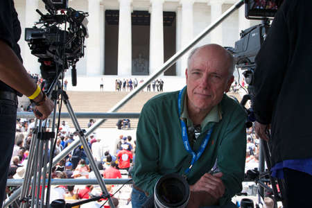 Photographer Joseph Sohm at Martin Luther King 50th Anniversary of I Have A Dream Speech