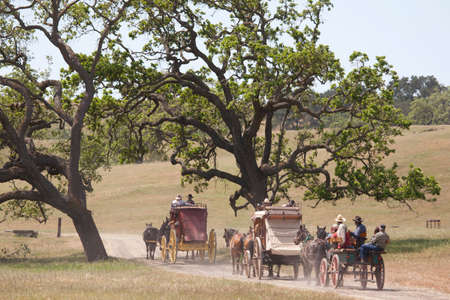 """Santa Ynez Valley Historical Museum and Carriage House hosts """"Spirit of the West,"""""""" a symposium on Wells Fargo stagecoaches and horse-drawn vehicles of the West, Santa Ynez, Santa Barbara County, California"""