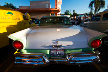 1957 Ford and Classic cars and hot rods at 1950's Diner, Bob's Big Boy, Riverside Drive, Burbank, California