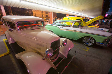 1957 Ford and Classic cars and hot rods at 1950s Diner, Bobs Big Boy, Riverside Drive, Burbank, California
